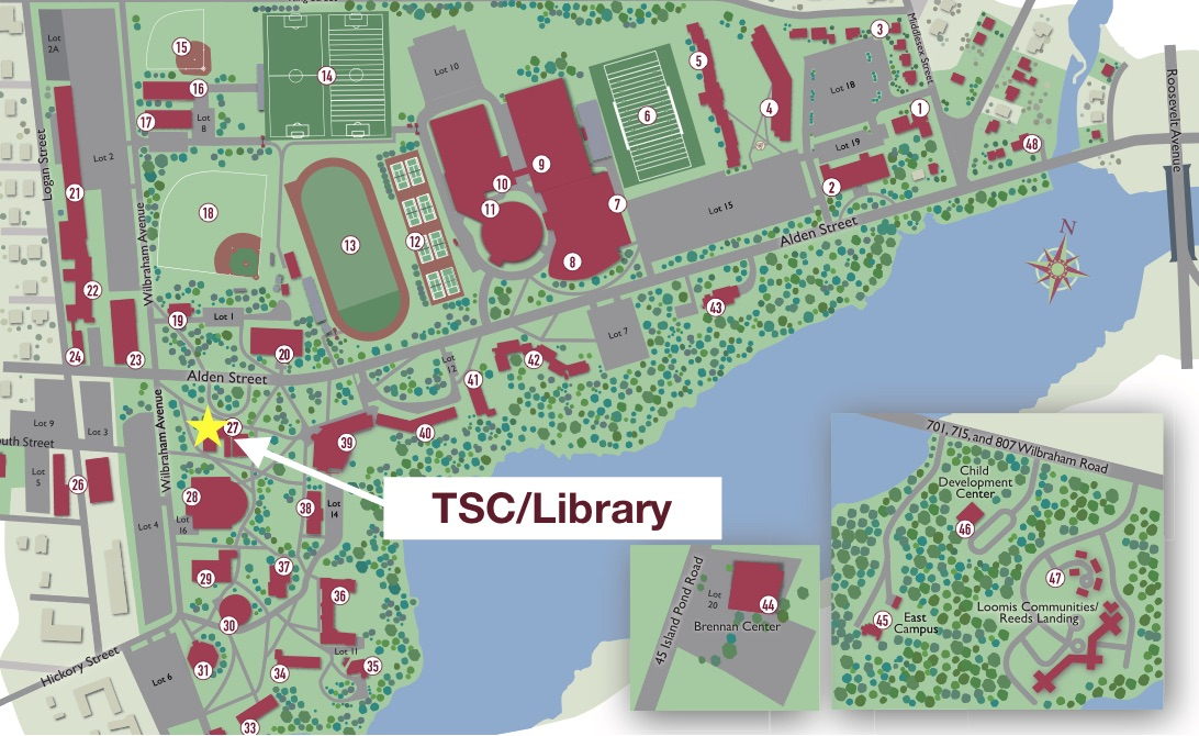 Springfield College Campus Map Springfield College Campus Map | World Map Gray